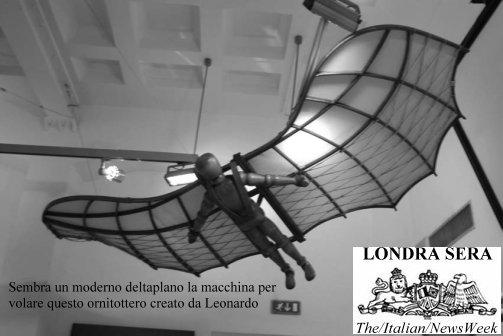 Londra sera numero ix marzo 2010 newsweek italiano a for Invenzioni di leonardo da vinci