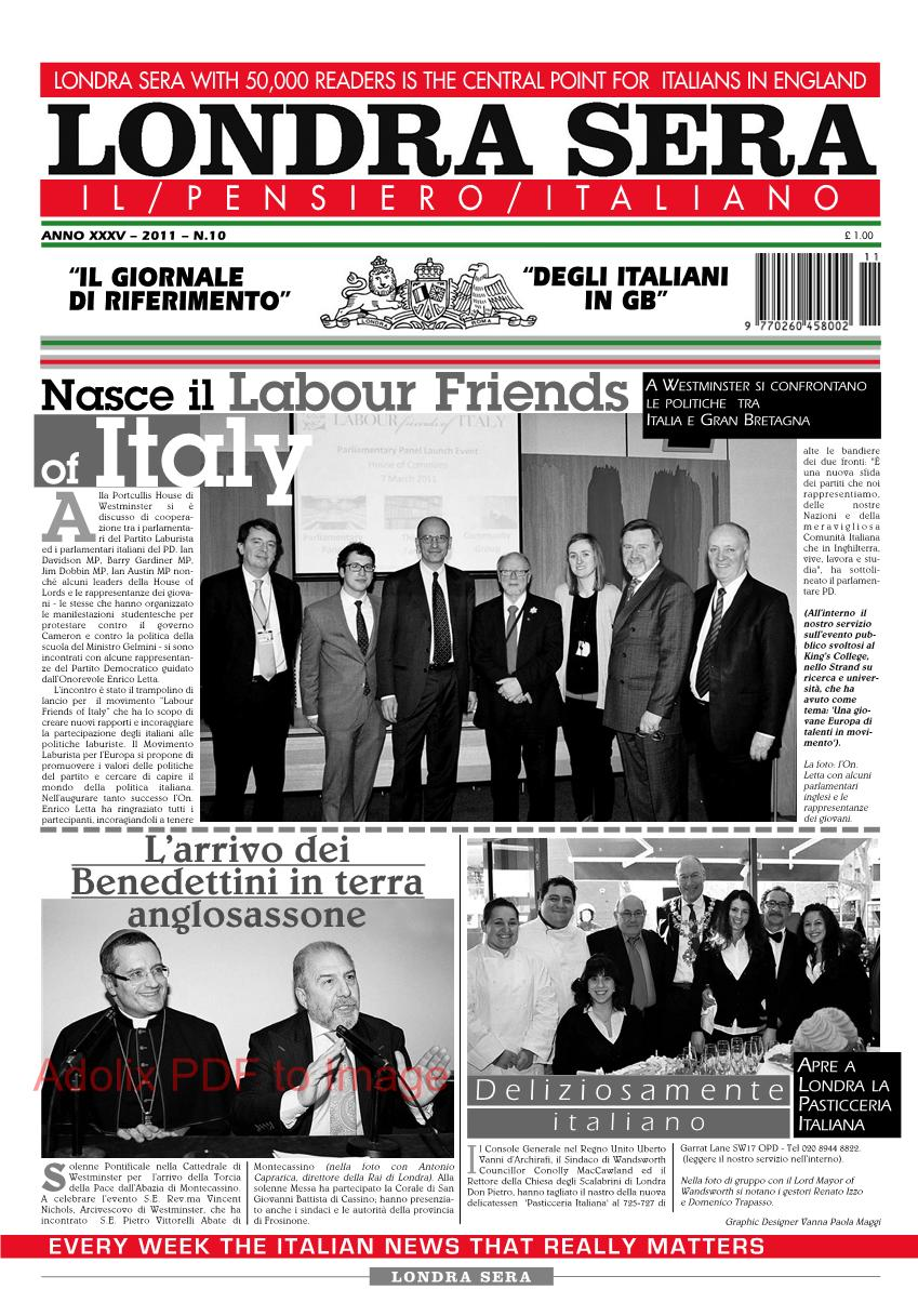 Londra sera numero 10 marzo 2011 newsweek italiano a for Parlamentari italiani numero