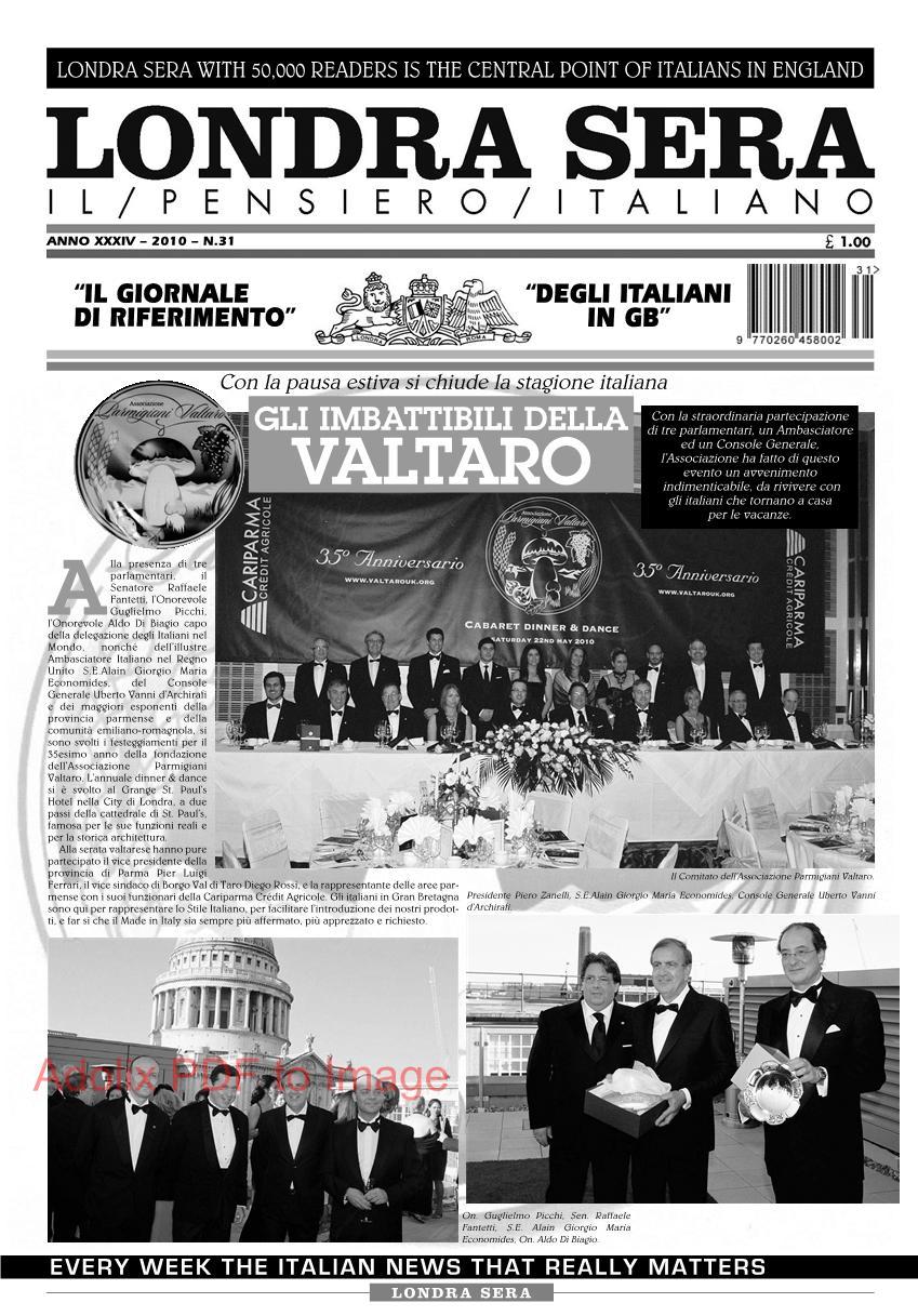 Londra sera numero 31 agosto 2010 newsweek italiano a for Numero parlamentari italiani